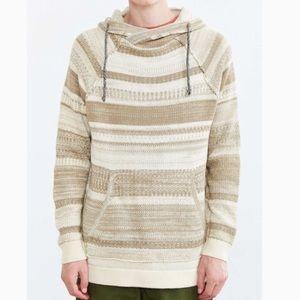 Koto Beige Striped Yamahushi Hooded Sweater